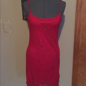 Candy Rocket Dress Red Sparkling Size Medium